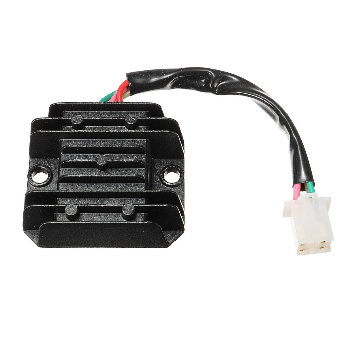 CALAP-STORE - Universal 12V DC Black 4 Wires Regulator Rectifier For Motorcycle/Motorbike /Quad/Scooter