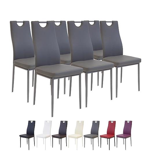 78 opinioni per Albatros 2916 SALERNO Set di 6 sedie da pranzo, grigio