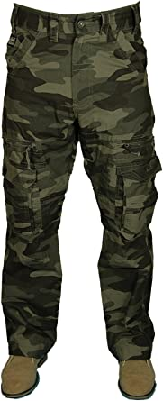 Black Cargo Trouser Workwear Work Multipocket Combat Army Military size 28 to 60