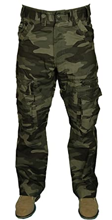 best place san francisco utterly stylish Kam Mens CAMO Combat Cargo Trouser Pants Relaxed FIT 30-60