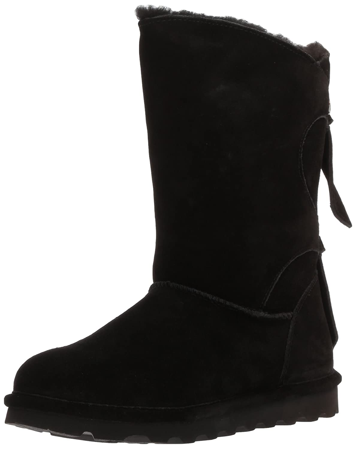 BEARPAW Women's Willow Boots, Suede, Rubber, Wool B06XYK2DMT 10 B(M) US|Black Ii