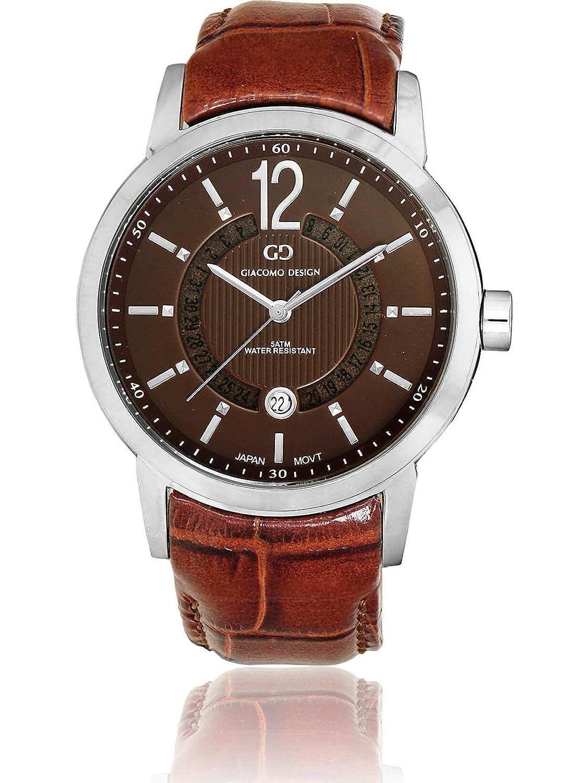 Herren-Armbanduhr Giacomo Design gd05001 - Chronograph - Datum - Lederband