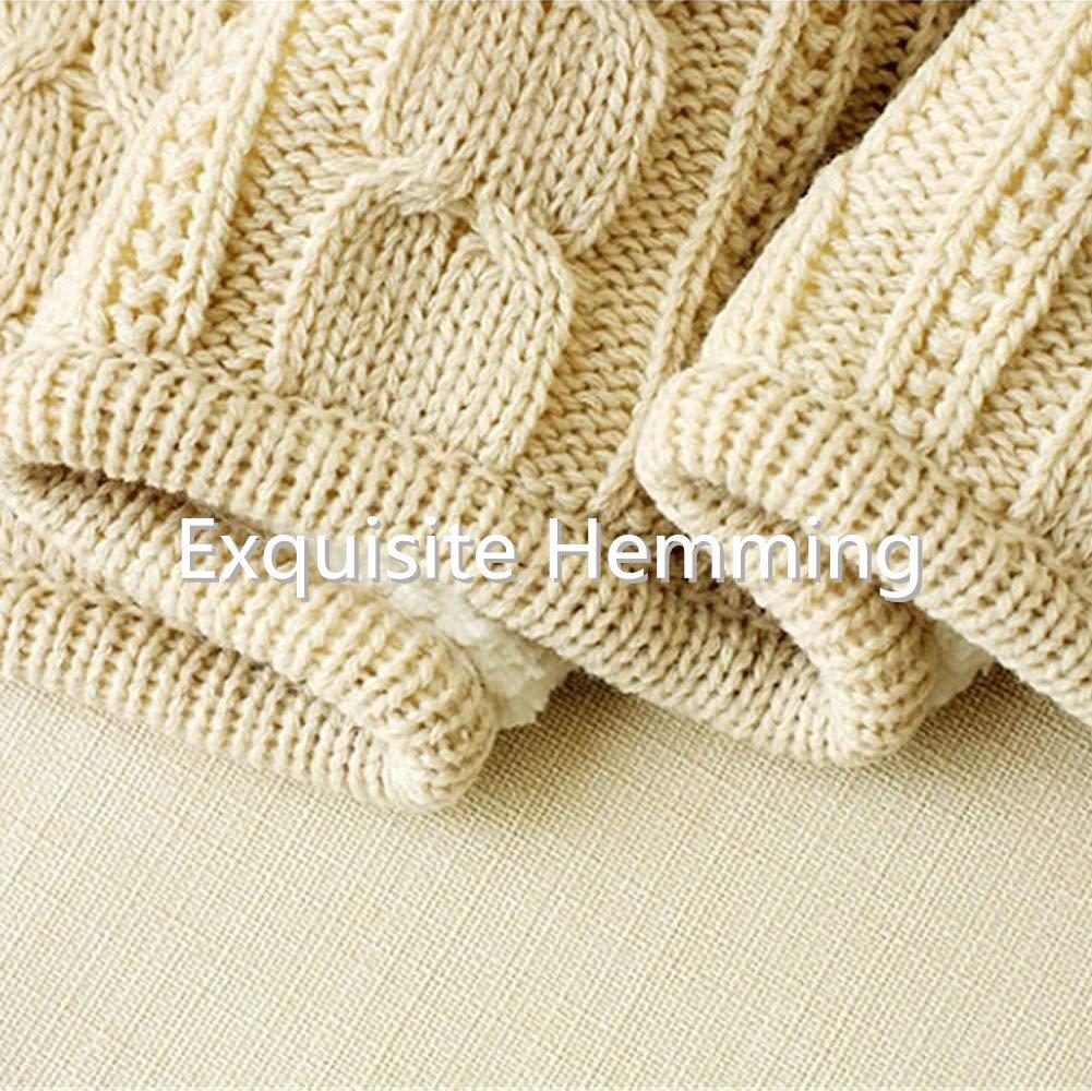 Amazon Prosshop 100 Cotton Sherpa Chunky Throw Blanket Warm