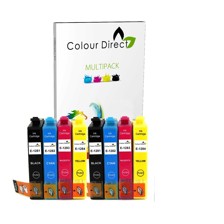 8 Doble Capacidad Compatible Cartuchos de Tinta Para Epson S22 ...