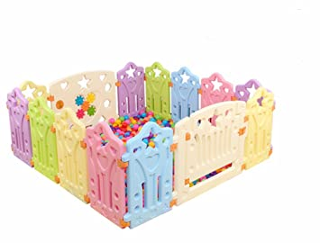 40c0f951a702a Amazon.com   Vesuvius Baby Playpen Kids 10 to 18 Panel Safety Play Center  Yard Home Indoor Outdoor Pen Fence Playards Security Gate