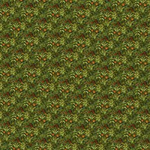 Melody Jane Dollhouse Miniature Print 1:12 Scale Tudor Wallpaper Field of Flowers