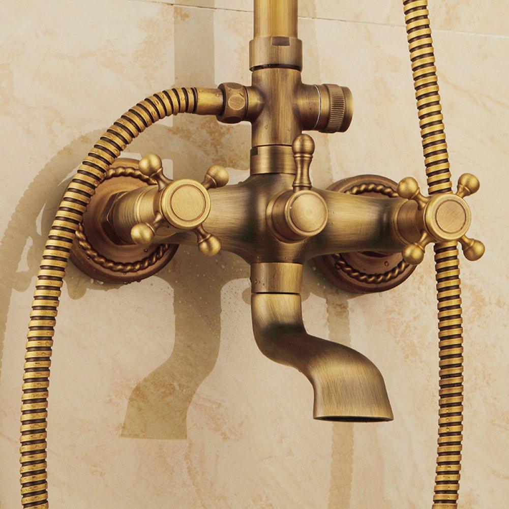 SMQ shower set Bathroom Shower Head European Style Vintage Copper Toilet Wall Mount Shower Shower Set