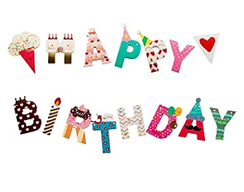 Party Propz Happy Birthday Banner For Kids Adults Decoration