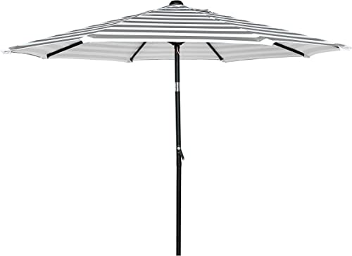HERMO 123456 9 Ft Outdoor Patio 8 Ribs Market Table Umbrella, Beige