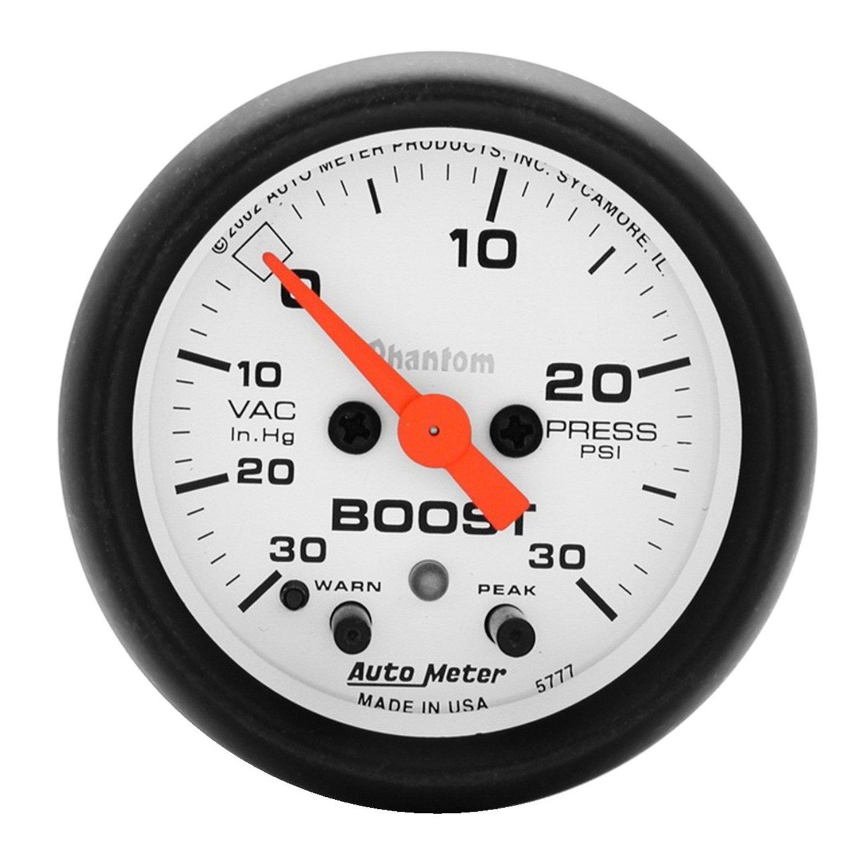 Auto Meter 5777 Phantom Electric Boost/Vacuum Gauge by AUTO METER