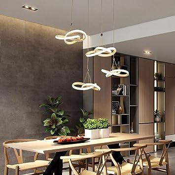 Yhooee Led Pendelleuchten Moderne Esszimmer Kronleuchter Aluminium