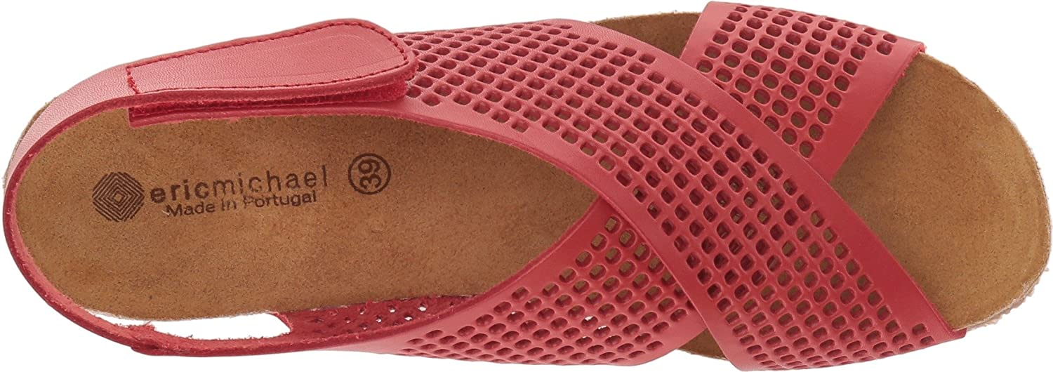 Eric Michael Womens August Wedge Sandal B076BRBVG9 36 M EU|Red