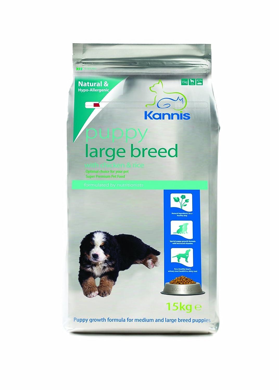 Kannis Premium - Comida Completa para Cachorros y gallinas de arroz para Perros de Razas Grandes de 15 kg (Fabricado en Reino Unido): Amazon.es: Productos ...