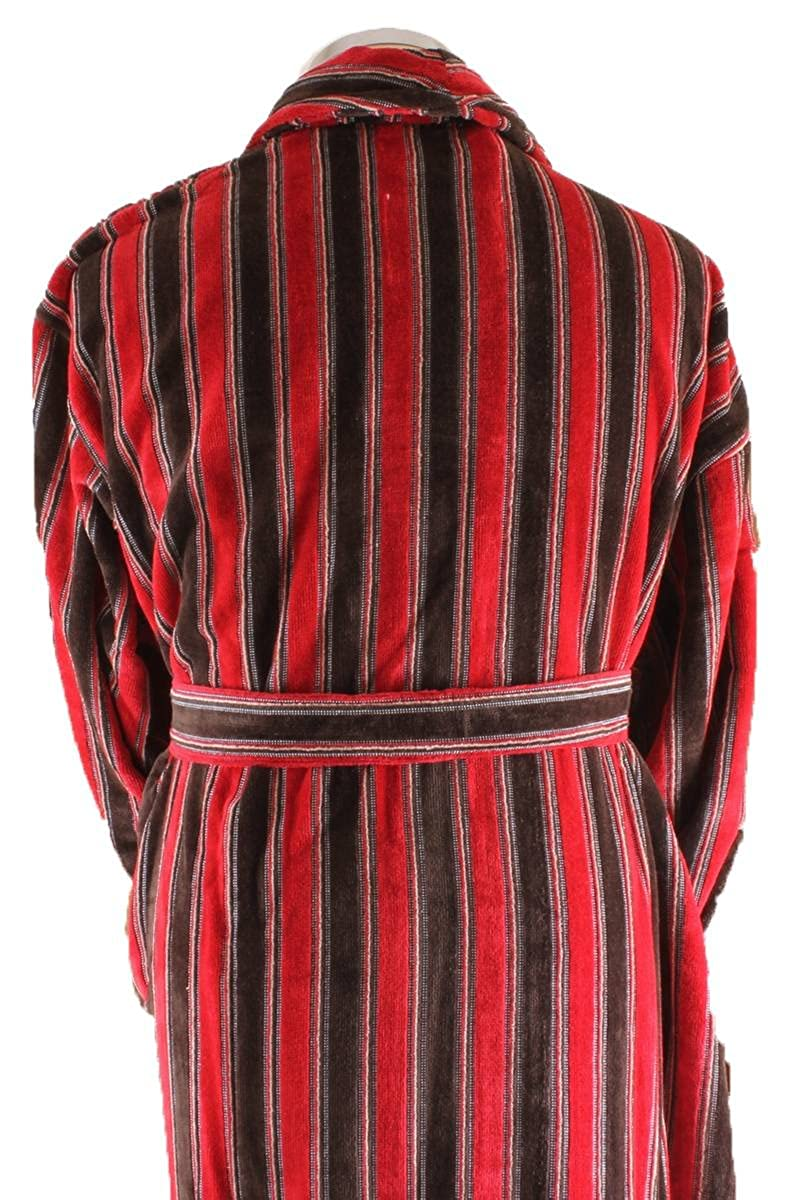 33c4165d20 Bown of London Mens Ely Dressing Gown - Red Rust Brown  Amazon.co.uk   Clothing