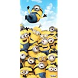 Minions Pile Up Beach Towel measures 28 x 58 inches