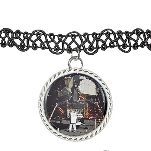 Apollo 11 Lunar Module luna aterrizaje Gargantilla Colgante Encanto Collar: Amazon.es: Joyería