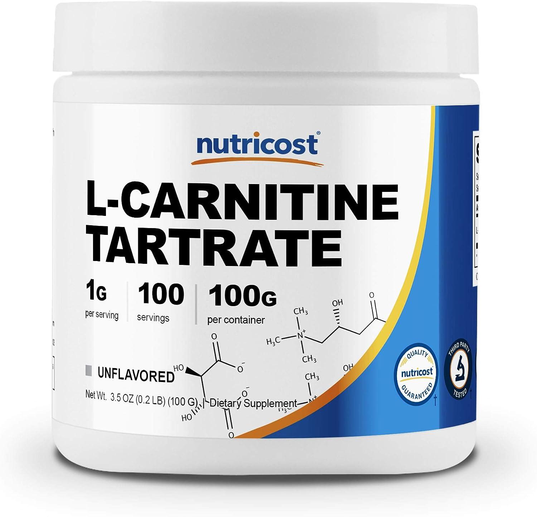 Nutricost L-Carnitine Tartrate Powder (100 Grams) - 1 Gram per Serving; 100 Servings: Health & Personal Care