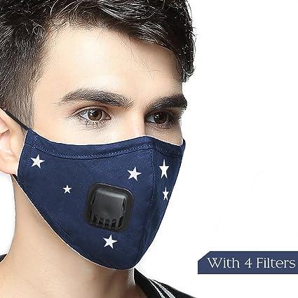 Máscara anticontaminación Lyanty de grado militar N99, máscara de boca lavable de algodón con filtro