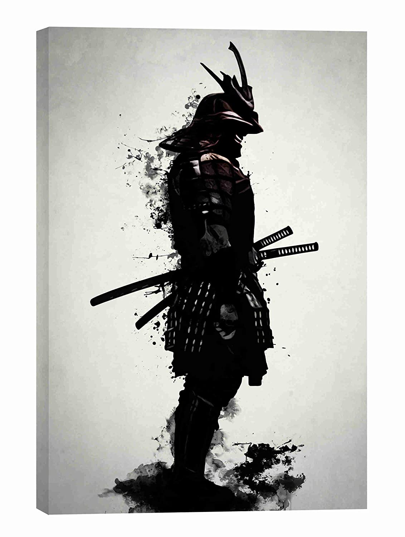 "Cortesi Home Armored Samurai Wall Art, 26"" x 40"", Black"