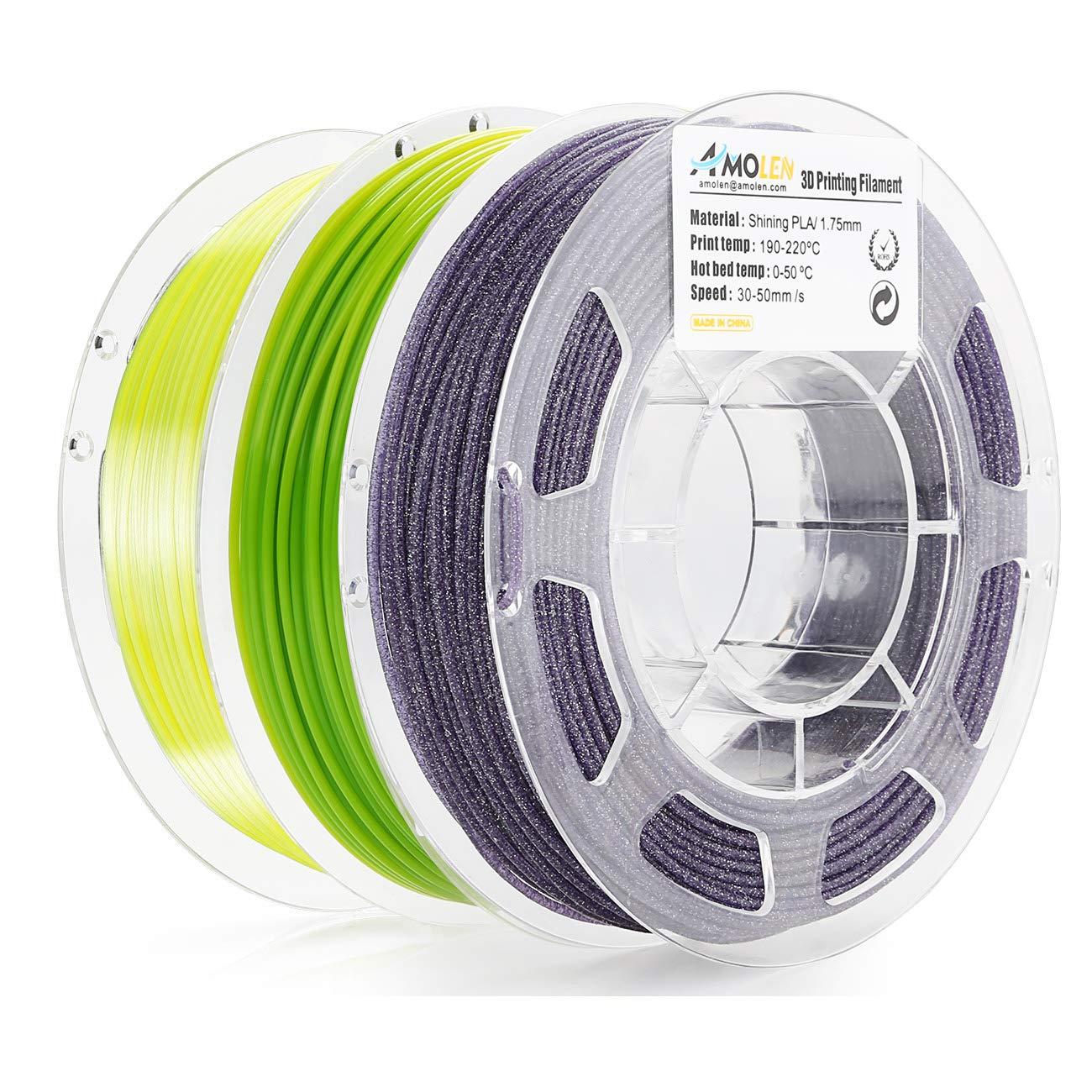 AMOLEN Impresora 3D Filamento PLA 1.75mm, Cambio de color de ...