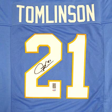 low cost c1822 d4355 San Diego Chargers LaDainian Tomlinson Autographed Blue ...