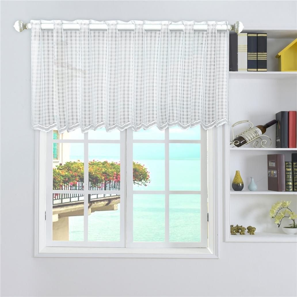 Livecity vetrine e tasca da corto tenda cucina mantovana Cabinent 45cmx150cm, Poliestere, Dots, Mid