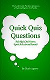 Quick Quiz Questions Pub Quiz At Home: Sport & Leisure Round