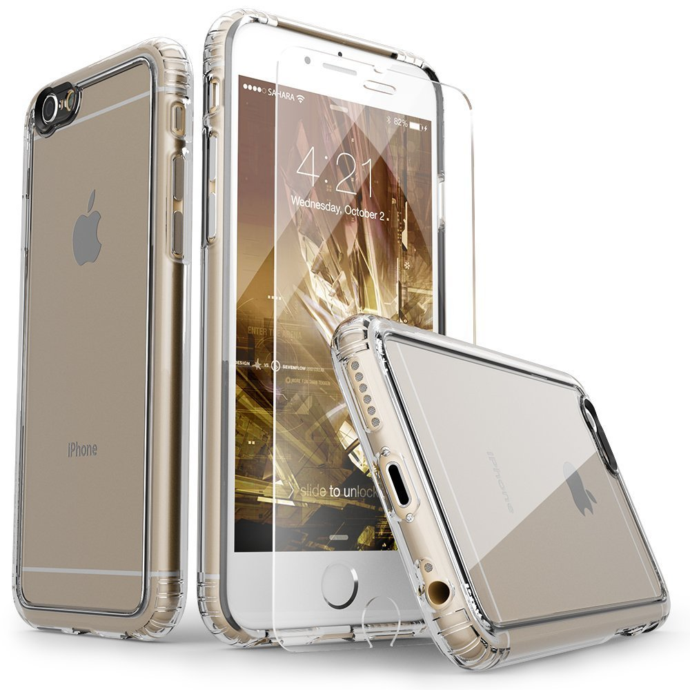 Saharacase iphone 6 6s crystal clear case rose gold edge saharacase - Amazon Com Iphone 6 Case Saharacase Clear With Tempered Glass Screen Protector Fits Apple Iphone 6s 6 Shock Absorbing Bumper Anti Scratch Back
