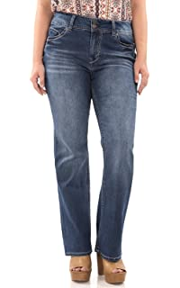 bf1af8ae37d Angels Jeans Womens Plus-Size Curvy Bootcut Jean AFM01291Z Christmas ...