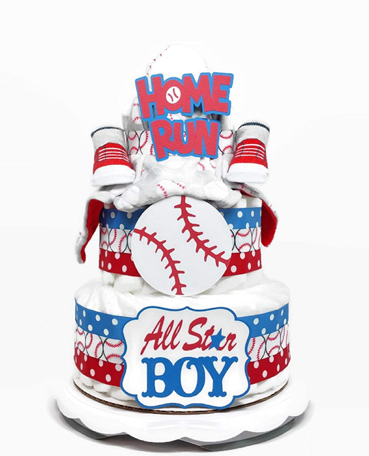 Enjoyable Amazon Com All Star Baseball Diaper Cake For Boy Baby Shower Funny Birthday Cards Online Bapapcheapnameinfo