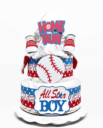 Incredible Amazon Com All Star Baseball Diaper Cake For Boy Baby Shower Funny Birthday Cards Online Alyptdamsfinfo