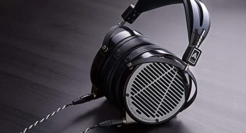 Audeze LCD-4 Over Ear Open Back Headphone Ebony Wood Ring Leather Ear Pads