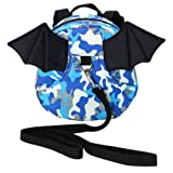 Amazon Price History for:Hipiwe Baby Toddler Walking Safety Backpack with Leash Little Kid Boys Girls Anti-lost Travel Bag Harness Reins Cute Mini Bat Backpacks for Baby 1-3 Years Old (Camouflage Blue)