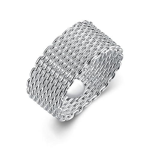 Styleziel Damen Herren Ring Silber feine Ketten flexibel Freundschaft Eyecatcher Neu 1896
