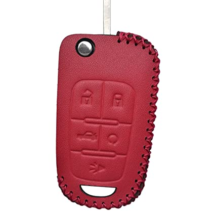 Coolbestda Leather Flip 5button Key Fob Cover Keyless Jacket Protector  Remote Case Accessories for Chevrolet Equinox Camaro Cruze Malibu Sonic  Buick