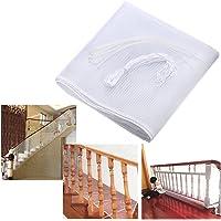 Sumnacon 3 mètre Filet de Protection Balcon pour Bébé et Enfant, Filet de Sécurité pour Balcon et Escalier, Solide et robuste, 77cm(hauteur) *300cm(longueur) (blanc)