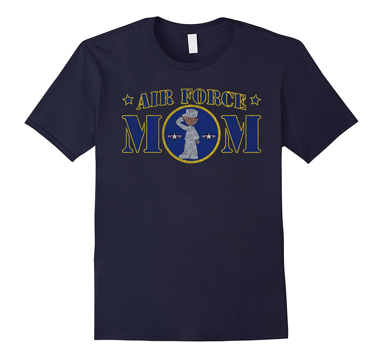 AIR FORCE MOM BLACK MALE AIRMAN MILITARY T-SHIRT-PL