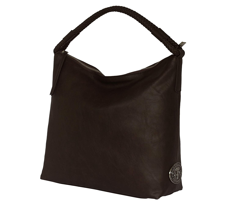 SILVIO TOSSI Damen Leder Handtasche Schultertasche Dunkelbraun wie Schwarz Schwarz Schwarz Modell 11523-02 B07JZTP7Y2 Messenger-Bags 88fda1