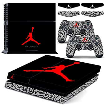 detailed look 9c240 9405a Air Jordan 3 Retro Shoe Box - PS4 Designer Vinyl Skin Decal Sticker for  Playstation 4 System Console and PS4 Wireless Dualshock Controller   Amazon.ca  ...