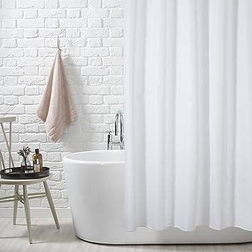 Blanc Uni Lavable Rideau De Douche Polyester Violet 250 X 200 Cm 12