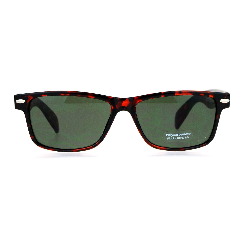 Mens 90s OG Narrow Horn Rim Rectangular Sunglasses Matte Tortoise Black