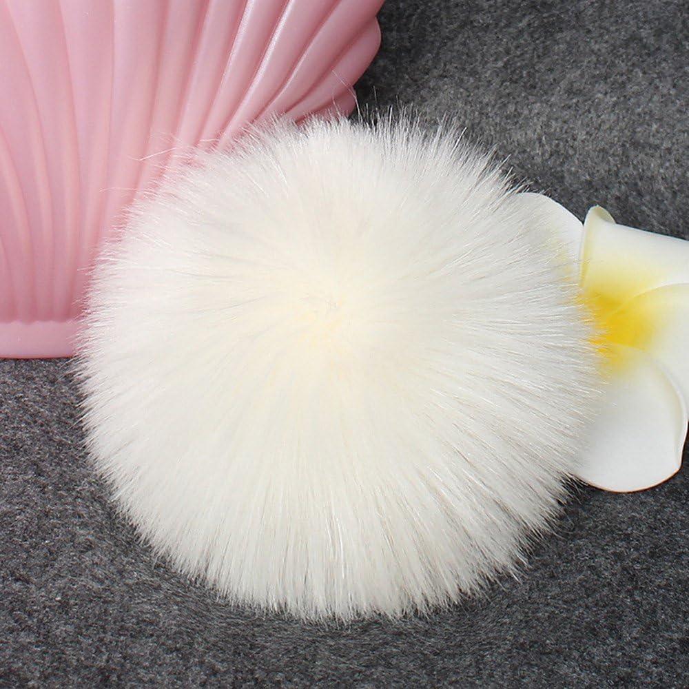 OverDose Damen Pompon Pelz Bommel Pompon Pelz Echtpelz Bommelm/ütze Flauschiger Pompon Ball f/ür Strickm/ützen Viele Farben!