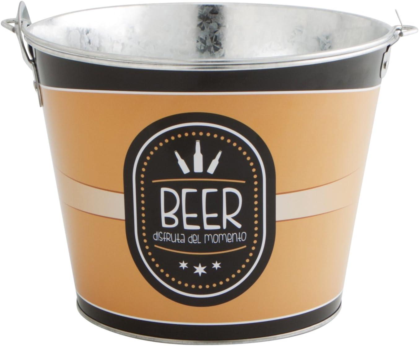 Quid Cubo de Cerveza, Acero, Azul y Negro