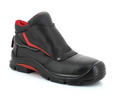 Foxter - Zapatos de Seguridad | Botas de Trabajo para Hombre | Impermeable | Piel Negra | S3 SRC
