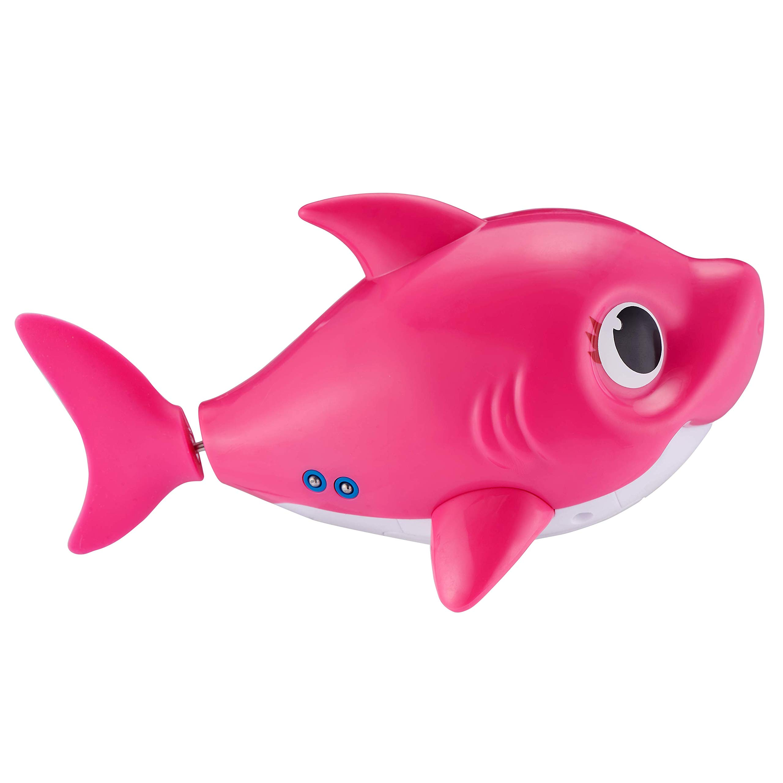 Robo Alive Junior Baby Shark Battery-Powered Sing and Swim Bath Toy by ZURU - Mommy Shark (Pink) by Robo Alive Junior (Image #4)