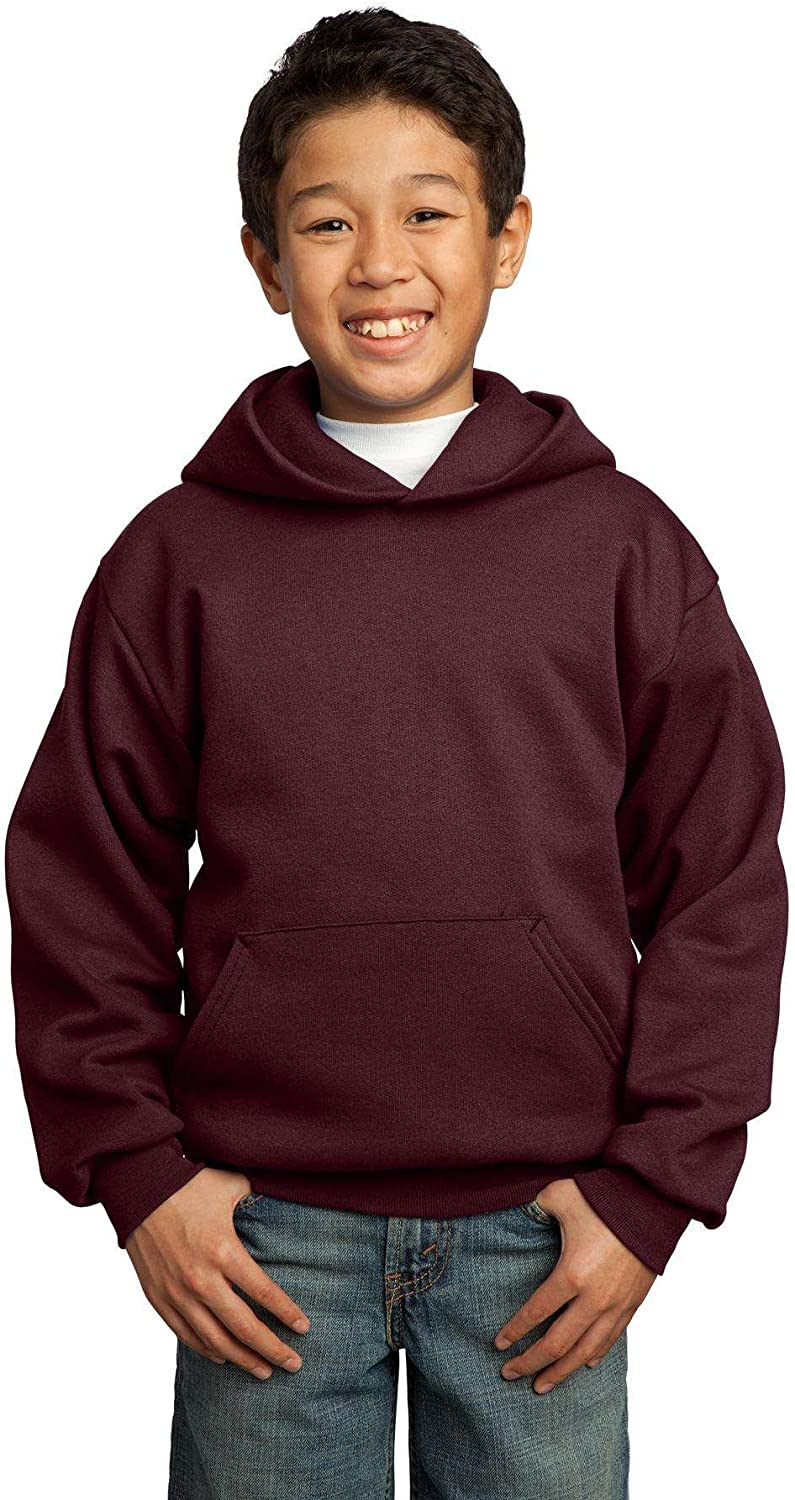 XL Youth Pullover Hooded Sweatshirt - Maroon Port /& Company