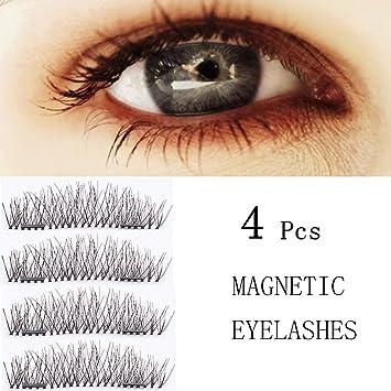 223bda4fef3 Dual Magnetic Eyelashes - 1 Pair (4 Pieces) 3D False Eyelashes Wispy lashes  Reusable