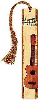 product image for Mitercraft Ukulele, Color Wooden Bookmark with Tassel