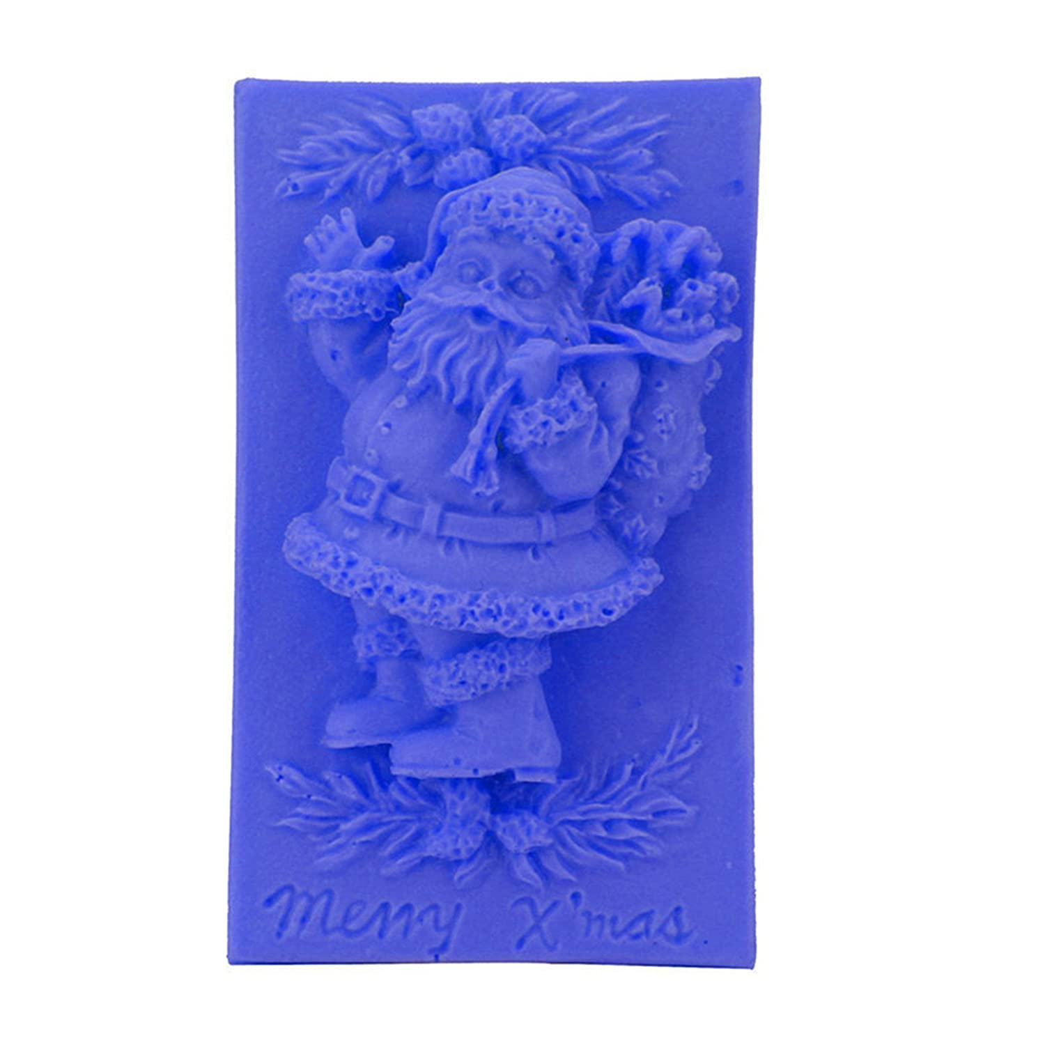 Amazon.com: FantasyDay 2 Pack Christmas Santa Silicone Cake Mold Chocolate Sugarcraft Decorating Fondant Tool for Your Soap, Mini Teacake, Fondant, Candy, ...