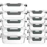 [10-Pack]Glass Meal Prep Containers with Lids-MCIRCO Glass Food Storage Containers with Lifetime Lasting Snap Locking Lids, A